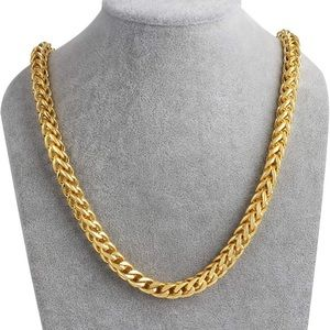 Kohl's 18k Gold Cuban Chain Necklace 24in 8mm
